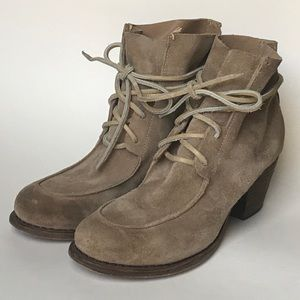 Rag & Bone PIPER Suede Lace Up Booties Boots 8